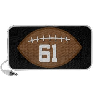 Football Jersey Number 61 Gift Idea Notebook Speakers
