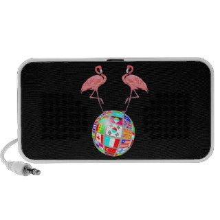 pink flamingo world domination notebook speaker