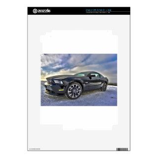 Ford Mustang Sky Clouds Fun Sports Racing Fast Car Decals For The iPad 2