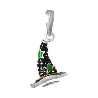 925 Sterling Silver Holiday Necklace Charm Pendant, Holiday Halloween Witc Jewelry