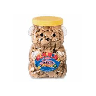 Marjack Products   Bear Cookie Jar, w/ Animal Crackers, Re usable Container, 24oz.   Sold as 1 EA   Delicious animal crackers come in a bear shaped, re usable container. Animal crackers offer a fun, quick and filling snack for the breakroom or reception ar