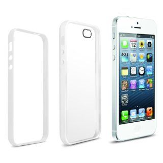 Anker� iPhone 5S 5 Case Ultra Slim Fit 0.9mm with 2 in 1 Combo Protection of most Durable Case for Apple iPhone 5 5S   Flexible Matte TPU Body + Protective PC Frame   White Cell Phones & Accessories