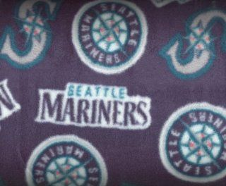 Licensed MLB Seattle Mariners By Fabric Traditions   FLEECE By the Yard