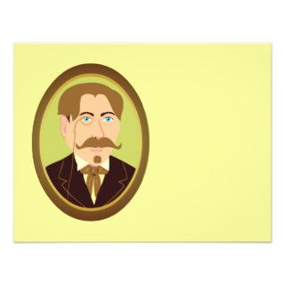 Victorian Gentleman Portrait Custom Invites