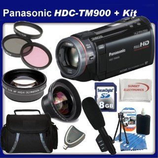Panasonic HDC TM900 High Definition Camcorder with SSE Kit Includes Wide Angle Lens, Telephoto Lens, Boom Microphone, 3 Piece Filter Kit, 8GB SDHC Memory Card and Much Much More Hard Disk Drive Camcorders  Camera & Photo