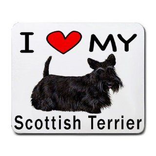 I Love My Scottish Terrier Dog Mouse Pad