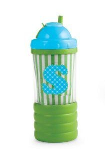 Mud Pie Initial Baby Boy Blue Initial Sip N' Munch, Letter S  Baby Food Storage Containers  Baby