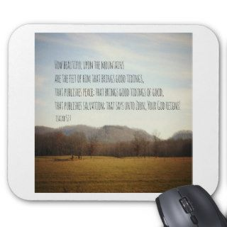 Isaiah 52 Mountains Mouse Pad
