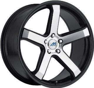 MACH   m5   19 Inch Rim x 9.5   (5x4.5) Offset (40) Wheel Finish   glossy black with machine face with glossy black lip Automotive