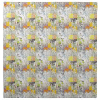 262 GRUNGE LIGHT GREY YELLOW ORANGE GREEN RETRO CO NAPKIN