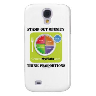 Stamp Out Obesity Think Proportions (MyPlate) Samsung Galaxy S4 Cover