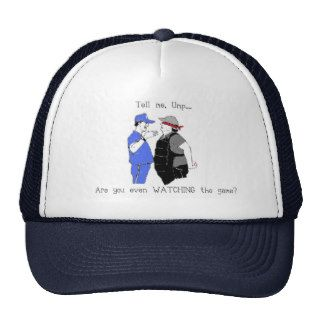 Baseball Coach and Umpire Face Off Trucker Hats