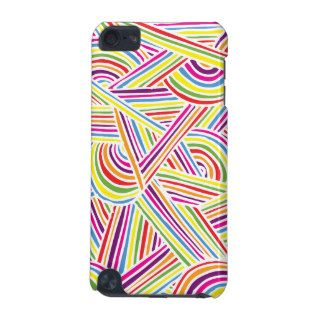 Rainbow colored Fun Doodle Lines iPod Touch (5th Generation) Covers