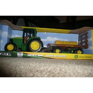 "Ertl John Deere 8"" Tractor with Flarebox Wagon Set Toys & Games"