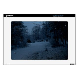 Moon Lite Road in the Woods   Scary Night Skin For Laptop
