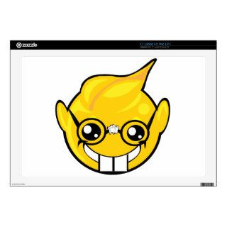 "nerd smiley face 17"" laptop skins"
