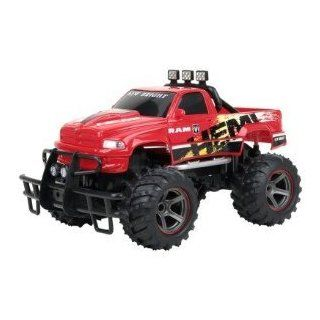 New Bright 114 R/C Dodge Ram Red Hemi Truck Toys & Games