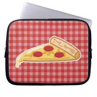 Cartoon Pizza Slice Laptop Sleeve