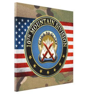 [150] 10th Mountain Division [10th MD] DUI Gallery Wrapped Canvas