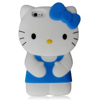Hello Kitty 3D Silicone Case Cover for New Iphone 5 Xmas gift, Blue Cell Phones & Accessories