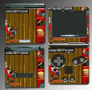 Codename Kids Next Door Cartoon Gift Teen Video Game Vinyl Decal Cover Skin Protector for Nintendo GBA SP Gameboy Advance Game Boy Video Games