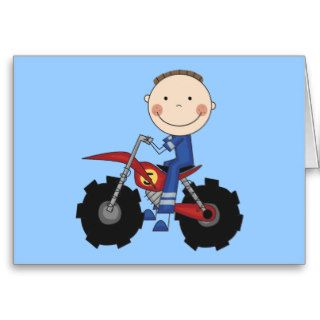 Dirt Bike Racing Tshirts and Gifts Greeting Cards