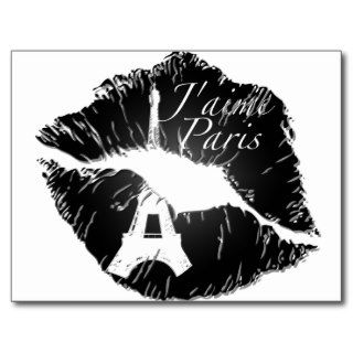 J'aime Paris Lips Post Card
