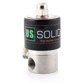 "1/4"" Stainless Steel Electric Solenoid Valve 12VDC Normally Closed VITON Industrial Solenoid Valves"