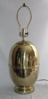 Brass Look Large Ginger Jar Shaped Table Lamp No Shade