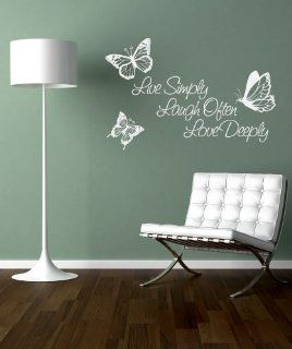 Stickerbrand Vinyl Wall Art Decal Sticker Inspirational Quote Live Simply Laugh Often Love Deeply 1166m   Wall Decor Stickers