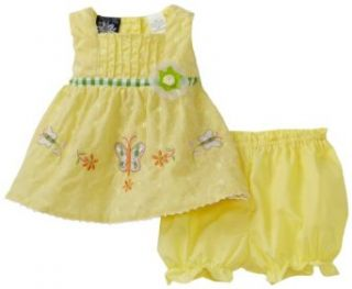 So La Vita Baby girls Newborn Butterfly Dress, Yellow, 6 9 Months Infant And Toddler Dresses Clothing