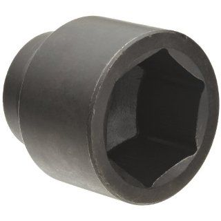 "Martin 7672 Forged Alloy Steel 2 1/4"" Type III Opening 1"" Power Impact Drive Socket, 6 Points Standard, 3 3/16"" Overall Length, Industrial Black Finish"