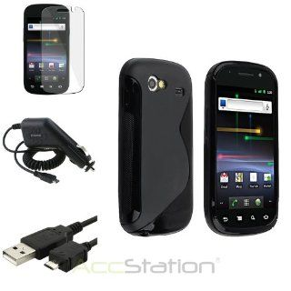 NEW YEAR  Bargain 2014 deal Black S Line TPU Skin Case+Clear Film+Cord+DC Charger For Samsung Google Nexus S PlEASE CHOOSE 1 COLOR Cell Phones & Accessories