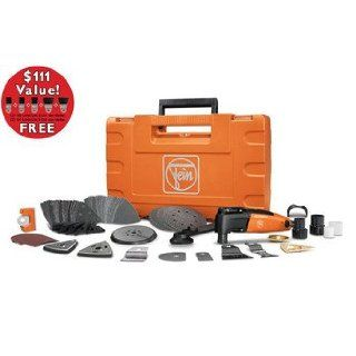 Fein 69908195192 MultiMaster Top Plus Oscillating Tool Kit with FREE Long Life E Cut Blade Set   Power Detail Sanders