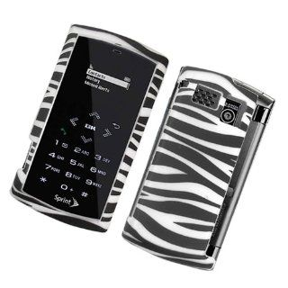 Black/ White Zebra 2D Texture Hard Protector Case Cover For Sanyo Incognito SCP 6760 Cell Phones & Accessories
