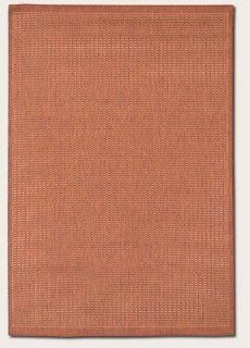 "2'0"" x 3'7"" Couristan Recife   Indoor Outdoor rugs Saddle Stitch   1001 4000   Terra Cotta Natural R   Area Rugs"