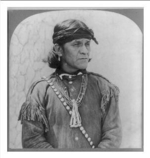 Historic Print (M) [A male Hopi Indian, wearing a head band, an earring, necklaces and probably a buckskin