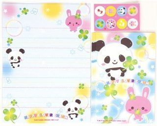 kawaii Letter Paper set panda bear rabbit cloverleaf Toys & Games