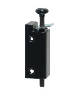 FPL Sliding Door Lock Security Foot Bolt in Black   Quickly and Easily Locks and Unlocks with Your Foot   Door Dead Bolts