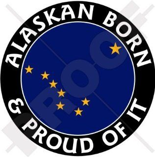 "ALASKA Alaskan Born & Proud USA United States America 100mm (4"") Vinyl Bumper Sticker, Decal"