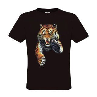 Ethno Designs Wildlife T Shirt Jumping Tiger regular fit  Hiking Shirts  Clothing