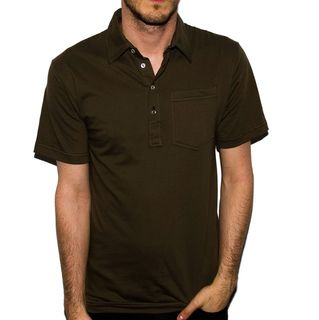 American Apparel Men's Dark Army Green Fine Jersey Leisure Shirt American Apparel Casual Shirts