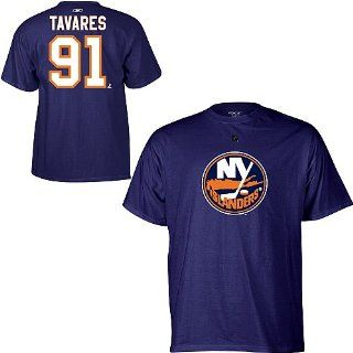Reebok New York Islanders John Tavares Player Name & Number T Shirt   NEW YORK ISLANDERS NAVY Large  Sports Related Merchandise  Sports & Outdoors