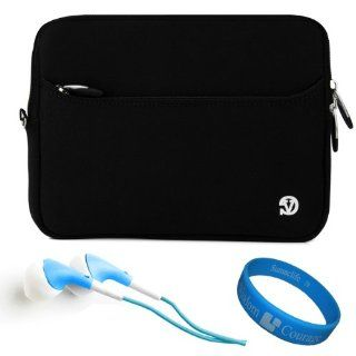 "Black VG Neoprene Sleeve Cover for Asus VivoTab RT TF600T 10.1"" Windows RT Tablet + Blue Hifi Noise Reducing Headphones + SumacLife TM Wisdom Courage Wristband Computers & Accessories"
