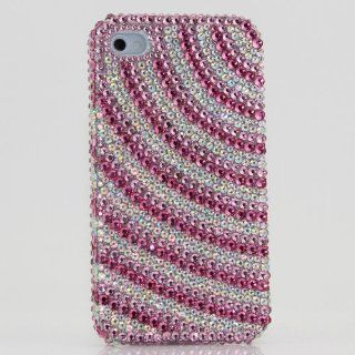 Swarovski Luxury Crystal Pink Bling Case Cover for iphone 4 / 4s 100% Handcrafted by BlingAngels Cell Phones & Accessories