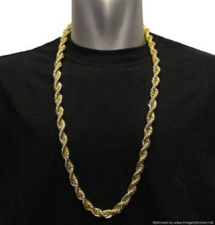 "18K Gold Plated, RUN DMC HIP HOP Rope Chain, 8mm X 30"" Dookie Chain, Stainless Steel Core   HIGH QUALITY Jewelry"