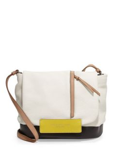 Round the Way Girl Messenger Bag, Swan White Multi   MARC by Marc Jacobs