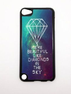 Apple iPhone 5 5G 5S We're Beautiful Like Diamonds In the Sky Nebula Stars Hipster BLACK Sides Slim HARD Case Skin Cover Protector Accessory Vintage Retro Unique  Players & Accessories