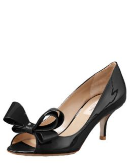 Couture Bow Pump   Valentino   Black (37.5B/7.5B)