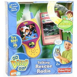 Fisher Price Go Diego Go Talking Rescue Radio says phrases in English and Spanish + Exclusive animal and collector card included Toys & Games